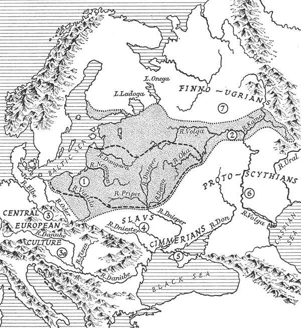 Baltų pėdsakai bronzos amžiais archeologės Marijos Gimbutienės žemėlapyje