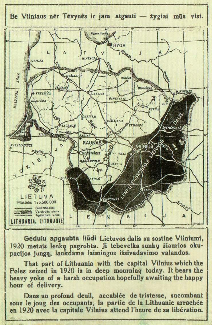 1920-1940 Lenkų užgrobtoji Vidurio Lietuva su sostine Vilnium