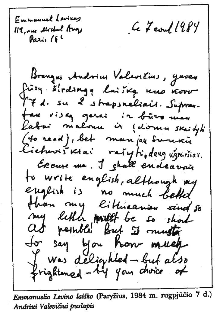 Lietuviškas Lėvino rankraštis