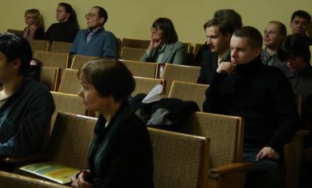 10.on.lt konferencijos vaizdas Mokslų akademijos bilbiotekos salėje