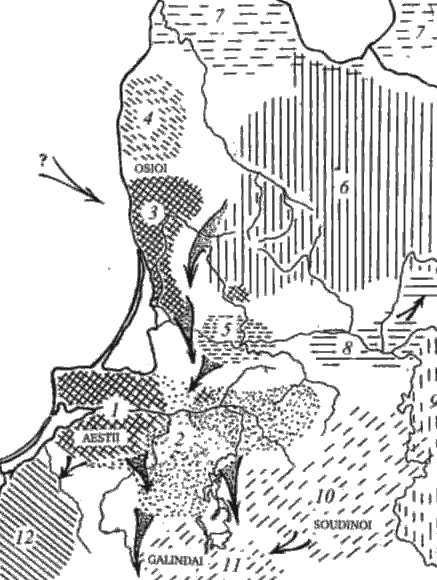 Vakarų baltai apie 300 m. po Kr.