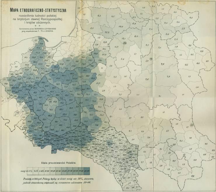 Lenkai 1912 metais — demografinis žemėlapis