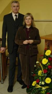 Dr. Daiva Narbutienė ir Vladas Palubinskas po 10.on.lt konferencijos