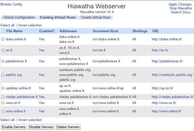 Hiawatha-Webmin