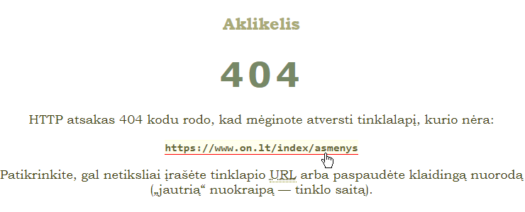 HTTP error 404 — URL not found